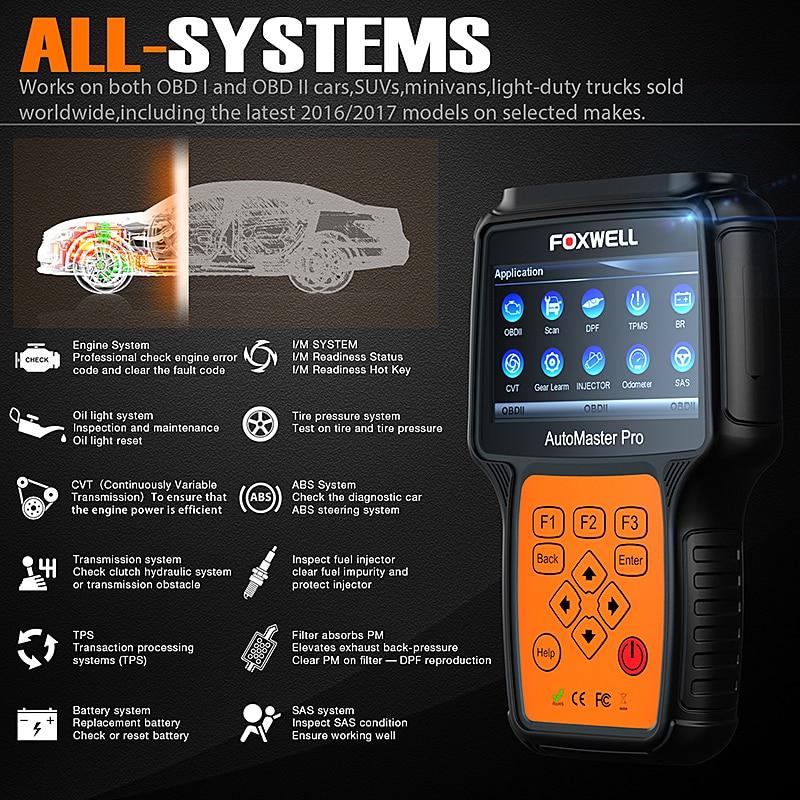 FOXWELL NT644 Pro Full System OBD2 Auto Diagnose Werkzeug Automotive Scanner Airbag ABS SAS EPB Öl Service DPF Reset OBD2 scanner