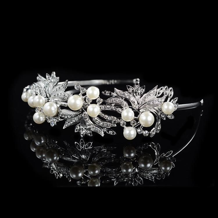 SLBRIDAL Legering Bryllup Tiara Rhinestones Pandebånd Crystal Brude - Mode smykker - Foto 4