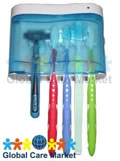 UV-C Light Family Toothbrush Sanitizer by SuperFresh (Free Shipping, Highest Quality, Low Price!)