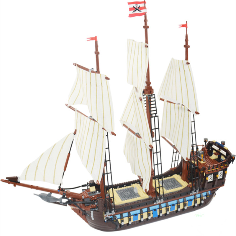 Lepining Diy 22001 Model Pirates legoingly The Flagship Huge Ship Building Kit Blocks Bricks Toys Gift Compatible with 10210 kid lepin 22001 pirates series the imperial war ship model building kits blocks bricks toys gifts for kids 1717pcs compatible 10210