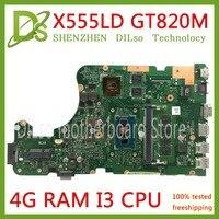 KEFU X555LD материнская плата для ноутбука ASUS X555LD X555LP X555LA X555L X555 Тесты I3 материнская плата 4G RAM Оригинал материнская плата