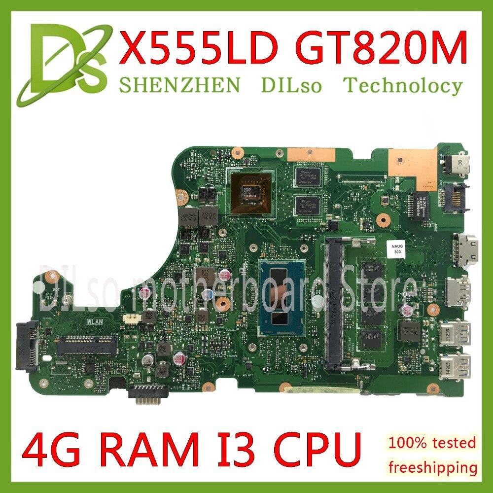цена на KEFU X555LD Laptop motherboard for ASUS X555LD X555LP X555LA X555L X555 Test I3 CPU mainboard 4G RAM original motherboard