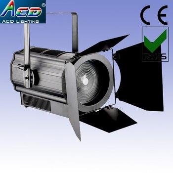 Venta al por mayor Popular 300w 3200 k-3500 k CRI> 95 blanco cálido led estudio spot teatro escenario efecto fresnel video efecto punto Luz