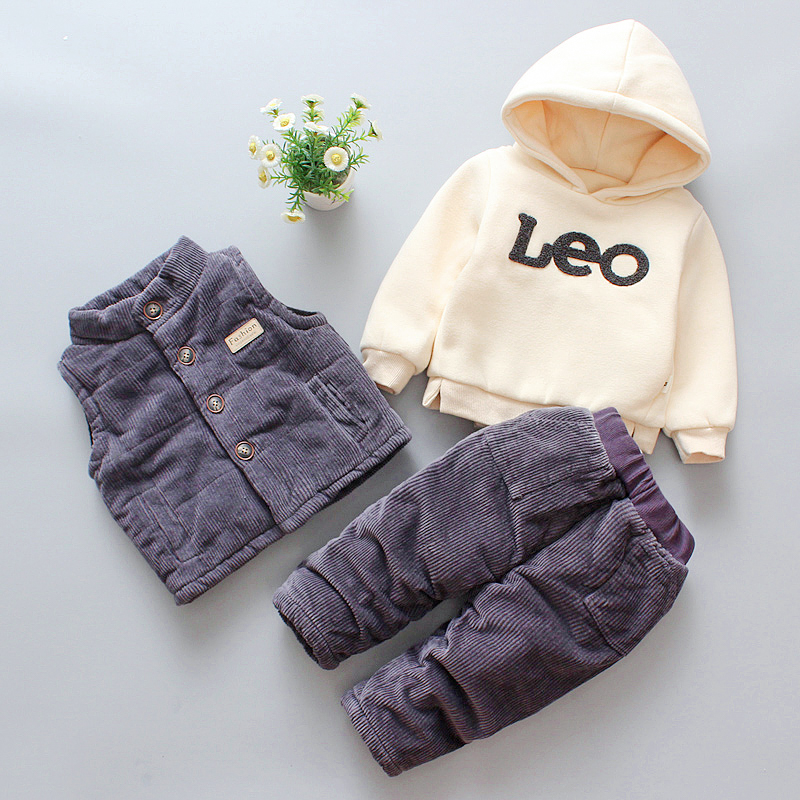 Kids Clothes Sets Cotton Boys Sport Suit Baby Boy Clothes Winter Warm Outfits Suits Clothes Long Sleeve Children 1-4Y Clothing 2018 children clothing boys sets girls sport suit windbreake outfits suits costumes for kids clothes sets cartoon boys clothes