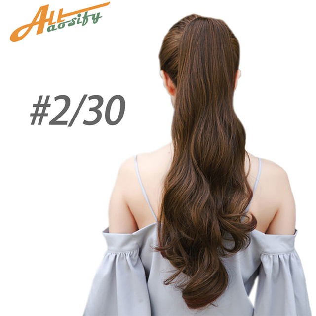 Special Offers Allaosify Hair Long Black Synthetic Ponytail Long