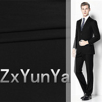 New 148cm suit wool fabric 80% wool pure black royal craft suit wool autumn and winter suit trousers fabric
