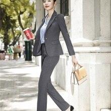 High Quality Fabric Fashion Grey Blazers Women Business Suit