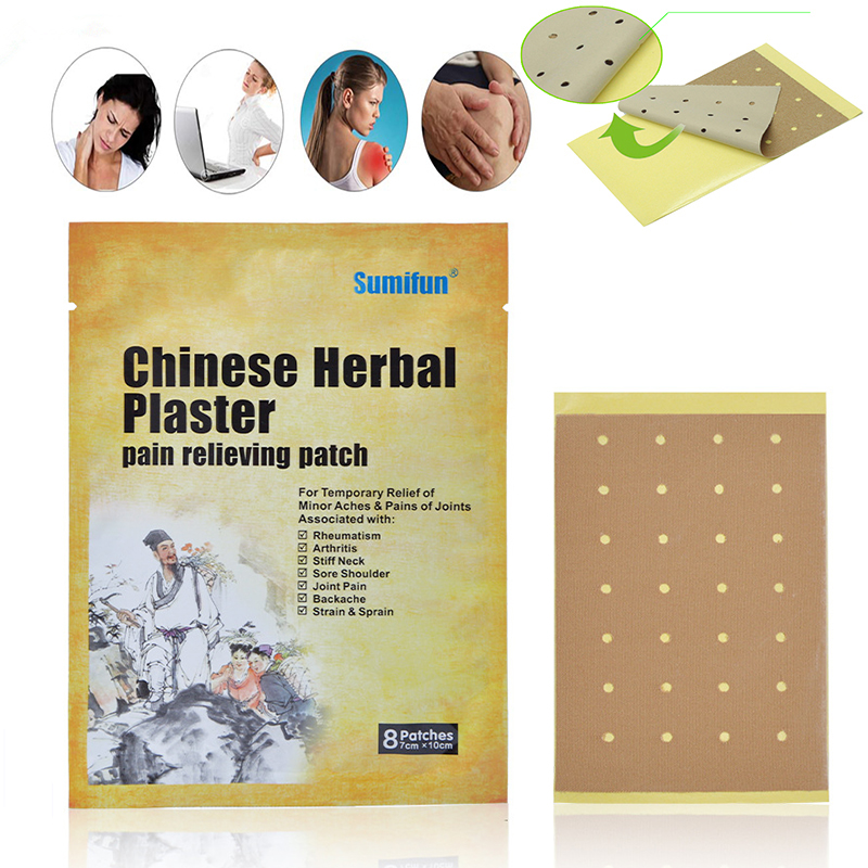 16 Pcs / 2 Bag Chinese Herbal Plaster Pain Reliefe Patch For Joint back muscle Pain Rheumatism Pain Chinese Herbal Plaster herbal muscle
