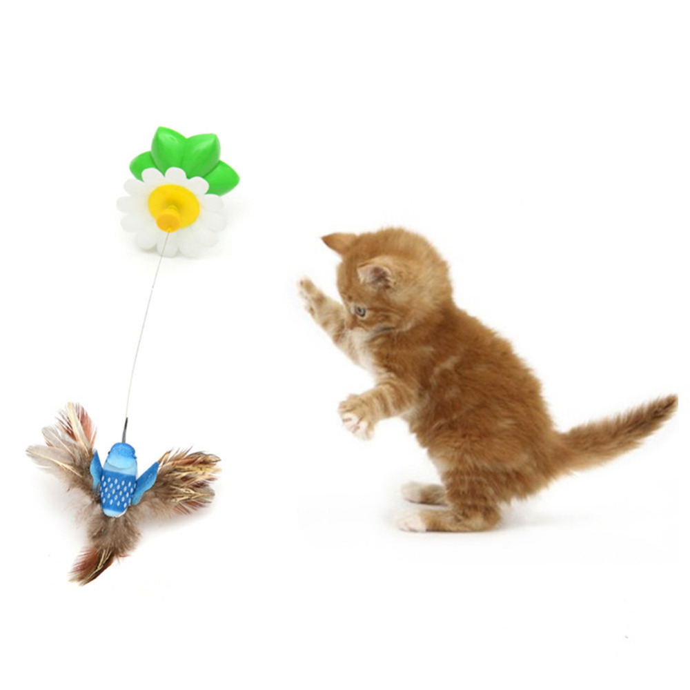 Electric flying bird cat toy 50 off today free shipping for Best motorized cat toys