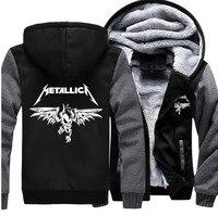 Adult Unisex Rock Band Heavy Thrash Metal Metallica Jacket Sweatshirts Thicken Men Women Hoodie Zipper Coat