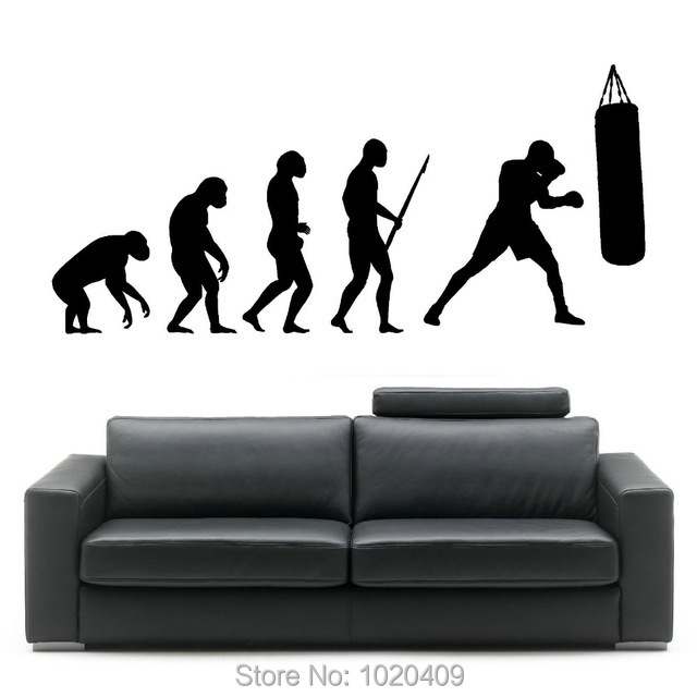 Exclusive Direct wall sticker Home Furnishing decorative theory of biological evolution carved PVC wallpaper children room 3008