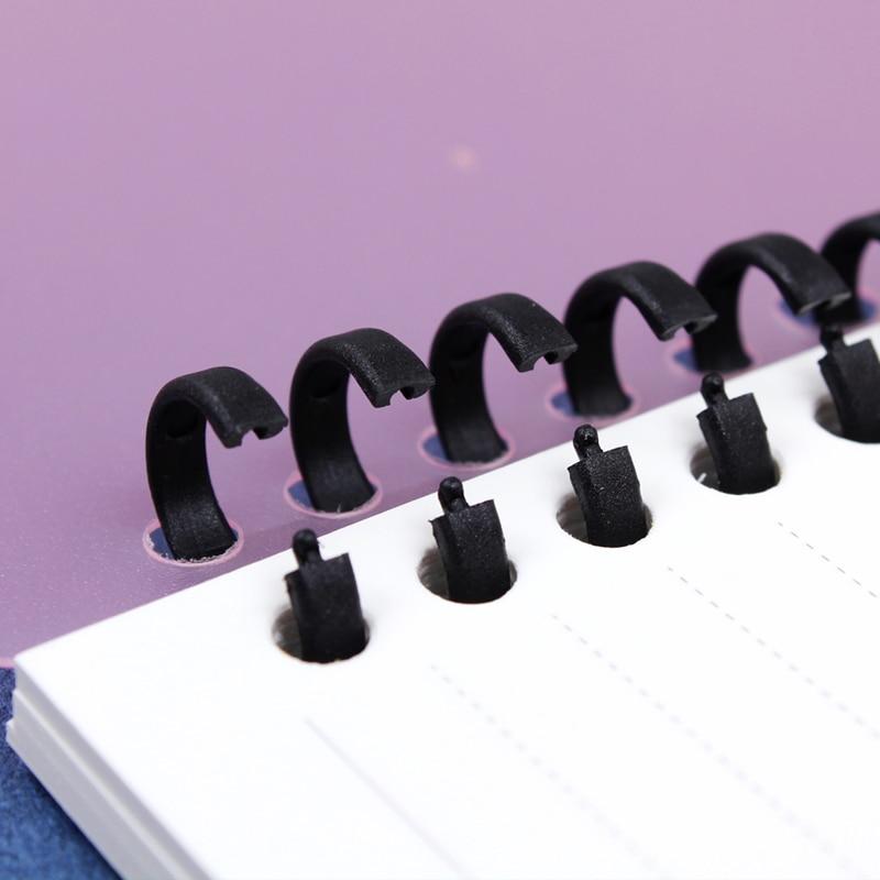 A4/B5/A5 Original 30 Hole Binder Circle Calendar Ring Planner Cover For Spiral Notebook Accessory Sheet Shell Office School