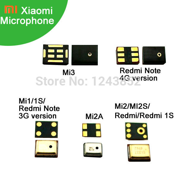 Microphone Xiaomi Mi1 Mi1s Mi2 Mi2a Mi3 Redmi Note 1s