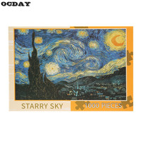 OCDAY 1000 Pieces DIY Assembled Paper Jigsaw Puzzle Of Landscape Educational Toys For Baby Children Adult