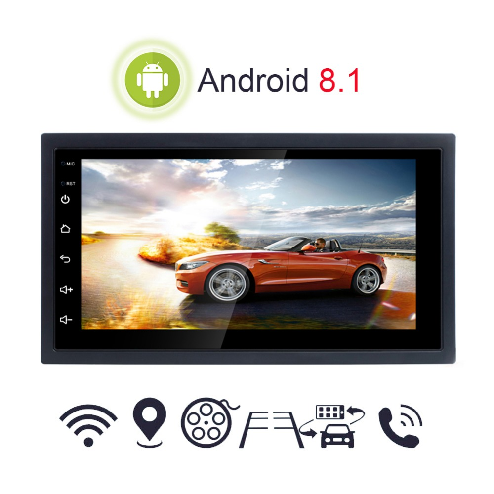 Android 8.1 DC 12V 7 Inch Universal Car Multimedia Player With GPS Navigator FM/AM Radio And Dual USB WIFI Bluetooth CallsAndroid 8.1 DC 12V 7 Inch Universal Car Multimedia Player With GPS Navigator FM/AM Radio And Dual USB WIFI Bluetooth Calls