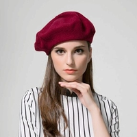 specials 100%goat cashmere women's berets hats beige pink 4color vintage 2styles crimping or flat side one&over size