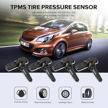 4 pcs Car Tire Pressure Sensor Car TPMS Tire Pressure Monitoring System Sensor 52933C1100 For Hyundai Sonata Tucson 52933-C1100