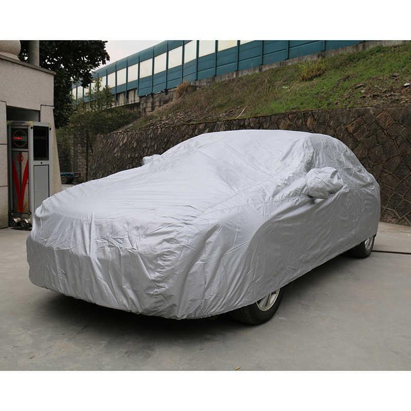Kayme pełne pokrowce samochodowe pyłoszczelna zewnętrzna kryty UV odporna na śnieg ochrona przed słońcem pokrywa poliestrowa uniwersalna dla Suv Toyota BMW vw