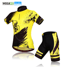 WOSAWE High Quantity Men Cycling Jersey Bicycle clothing Road MTB Mountain Bike Tights with Paded Shorts Sportswear