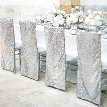 Chair-Cover Housse-De-Chaise-Decor Banquet Wedding Dining Hotel Universal Party New Sequin