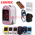 pulse oximeter saturometrFREE rubber case 16  BLACK CMS50DL OXYMETRE SATUROMETRE POULS METRE ECO2M Blood Oxygen SPO2 PR Monitor