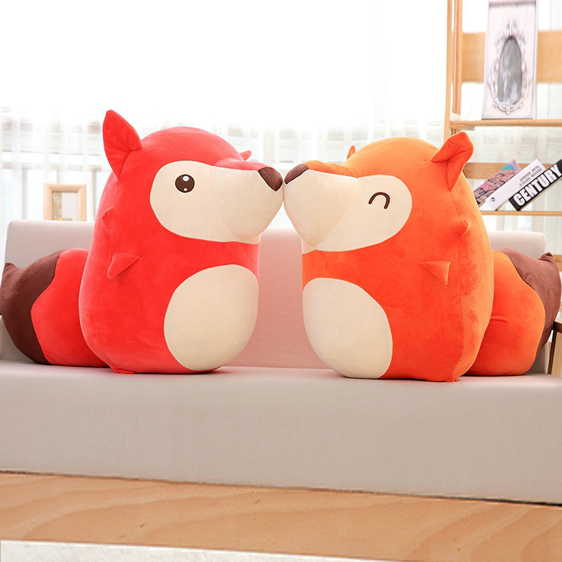 wholesale stuffed plush orange fox doll birthday gift for Chlidren 20-40cm 2018 New Style toy Cartoon fat fox plush toys 160cm cute pink fox plush toys sleep pillow stuffed cushion fox doll birthday gift for children animal stuffed toy