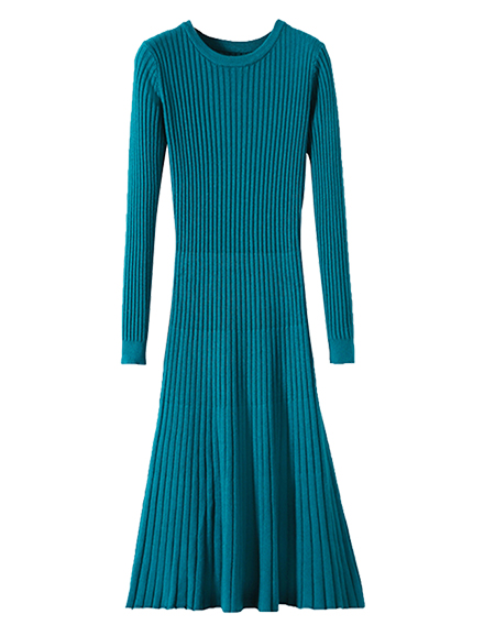 aa977aa6d3 Long Knitted Sweater Dress For Women Autumn Winter Knit Dresses Solid  Elastic Ribbed Skinny Knitting Dress Pull Femme Robe Femme