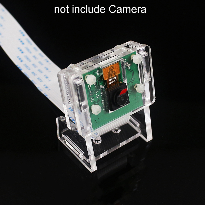 Raspberry Pi 4 5MP Camera Holder Acrylic Support Transparent Bracket Case Box For V2 Official Camera ( Not Include Camera)