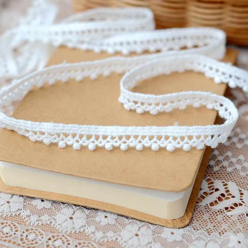 2019 hot sale Lace accessories Water soluble rice white cotton flower edge 1 cm H0103