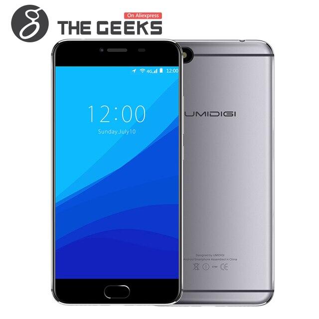 Original UMI UMIDIGI C HINWEIS Android 7.0 3 gb RAM 32 gb ROM MTK6737T 1,5 ghz Quad Core 5,5 zoll 2.5D FHD Bildschirm 4g LTE Smartphone