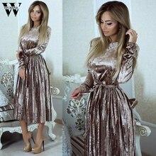 c234217278115 Womail elbise Çuha Düzenli vestidos güzel ucuz elbiseler Bayan Bayanlar  Bandaj Kadife Uzun Bodycon Akşam Parti
