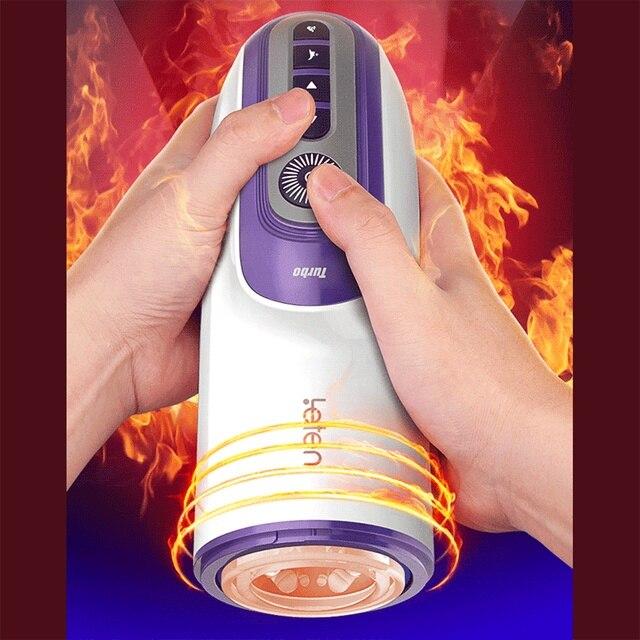 Piston Masturbator Retractable Vibrator Silicone Artificial Vagina Automatic Blowjob Voice Thrusting Massager Sex Toy for Men 2