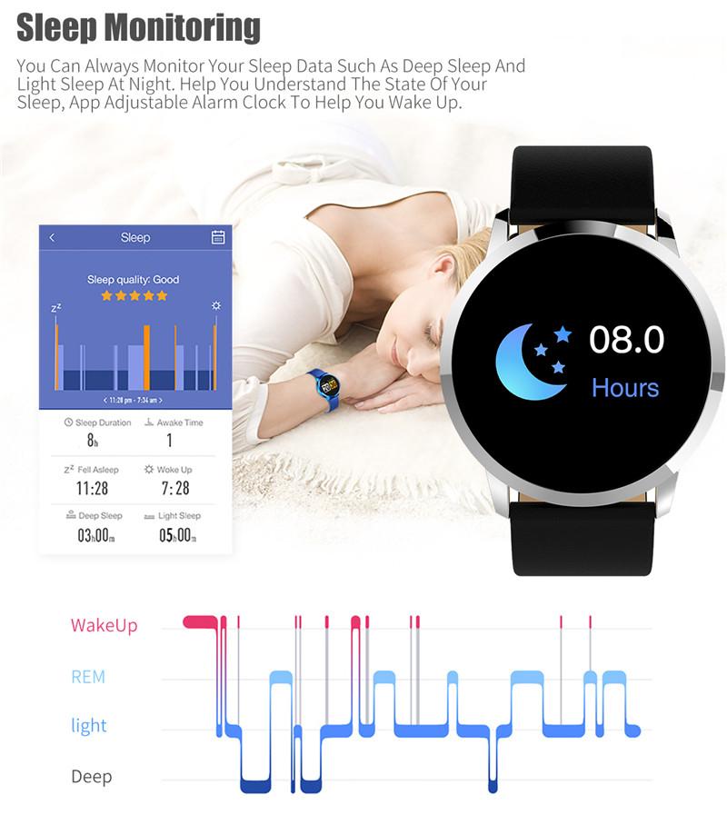 MAFAM Q8 Smart Watch OLED Color Screen Smartwatch Men Women Fashion Fitness Tracker Heart Rate Monitor For IOS Android Watch (18)