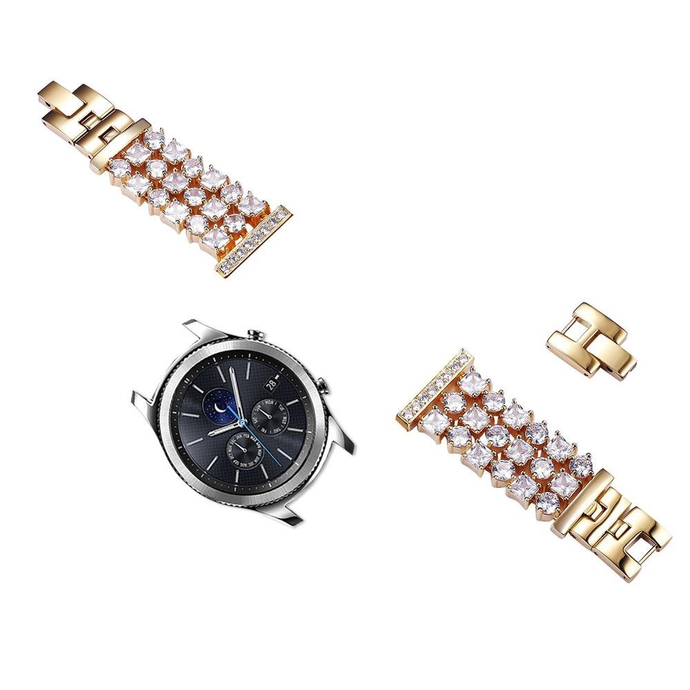 Bracelet de montre en diamant Bling pour Samsung Galaxy Gear S3 Frontier Bracelet classique en acier inoxydable pour montre galaxie Bracelet de 46mm - 4