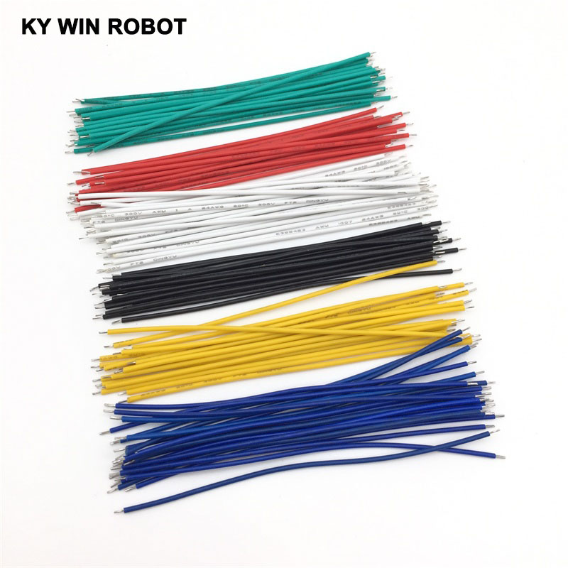 20pcs Wire Electronic Insulated Stud Tinned Galvanized Color Wire 24AWG 10CM Cable Jump Wire Jumper For Arduino