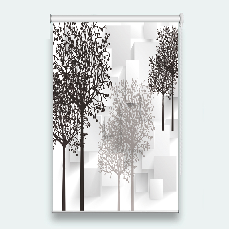 Customize 3D roller blinds Abstract tree roller shutters for window Living room modern roller blinds for bedroom decoration  Customize 3D roller blinds Abstract tree roller shutters for window Living room modern roller blinds for bedroom decoration
