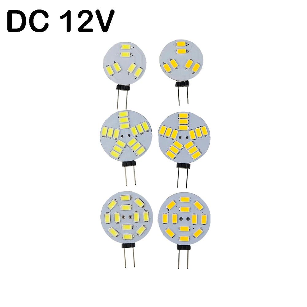 Wholesale Led G4 Base Car Marine Camper RV 6/12/15leds 5730 SMD Round Range Led Bi-Pin chandelier Light Bulb 120 Degree DC 12V