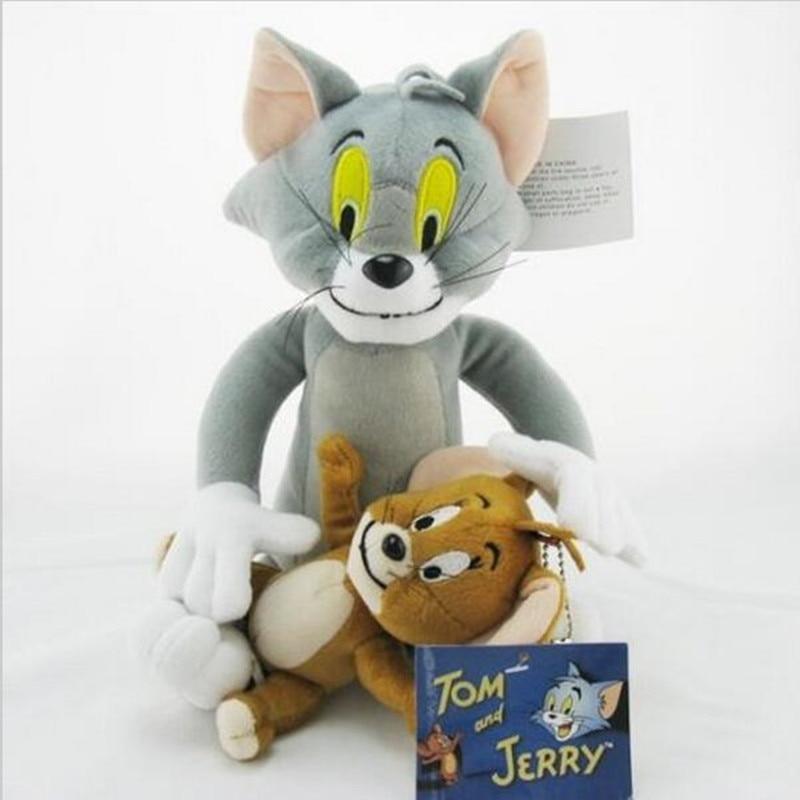 plusha a myš - 2pcs/set Tom and Jerry Mouse Plush Toys Cute Animal Stuffed Plush Dolls for Kids Gifts