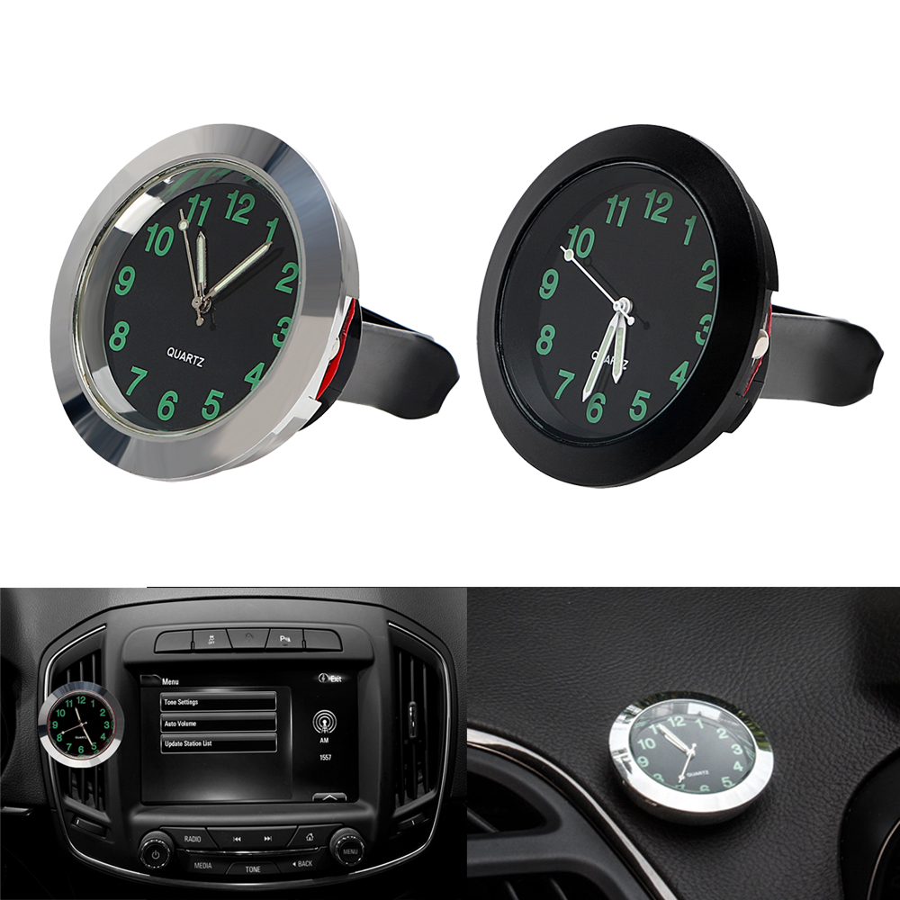 Car-Styling Quartz Clock Car Decoration Ornaments Vehicle Auto Interior Watch Digital Pointer Air Conditioning Outlet Clip Watch car styling car thermometer time clock ornaments with luminous auto watch a c air outlet vent clip air freshener