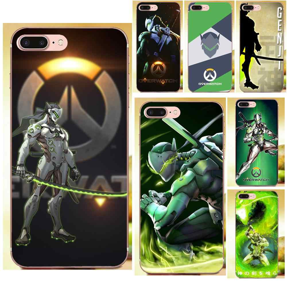 New Print Phone Accessories Case For Xiaomi Redmi Note 2 3 3S 4 4A 4X 5 5A 6 6A Pro Plus Game Overwatch Ow Character Genji