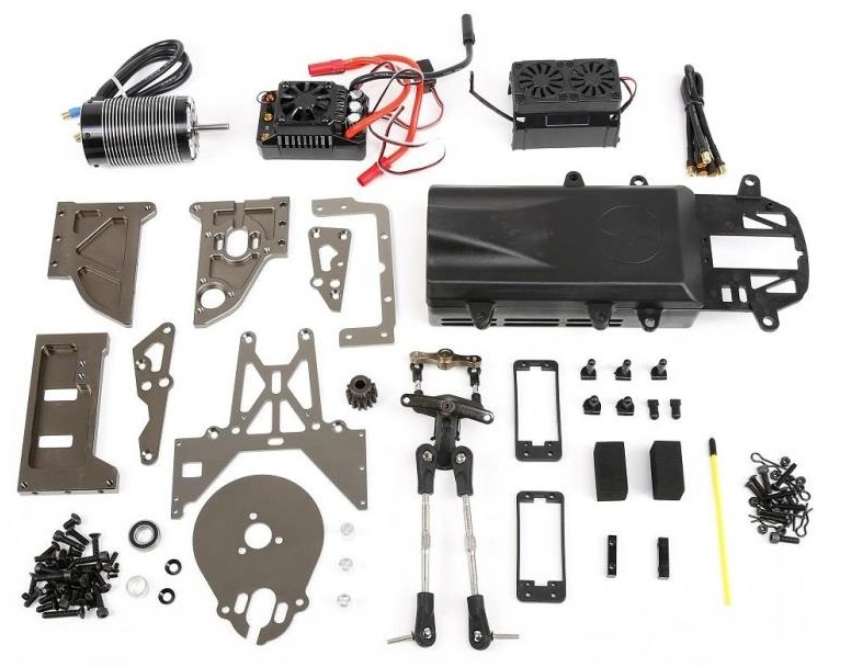 E-Baja Conversion Kit (1/5 Gas Powered Baja to Electric Brushless Motor Baja) FOR HPI KM ROVAN 5B 5T SC new king motor jaguar brushless motor esc mounting kit for hpi baja 5b 5t rovan