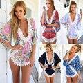 Hot Sale 2016 Summer Women Casual Loose White Lace Floral V-Neck Jumpsuits Rompers Short Pants Plus Size Elegant Jumpsuit S-XL