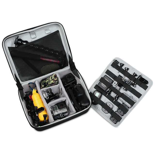 BUBM GOPRO camera bag hard case charter receiving bag waterproof camera go pro 2 3 4 storage case  portable video bag/case