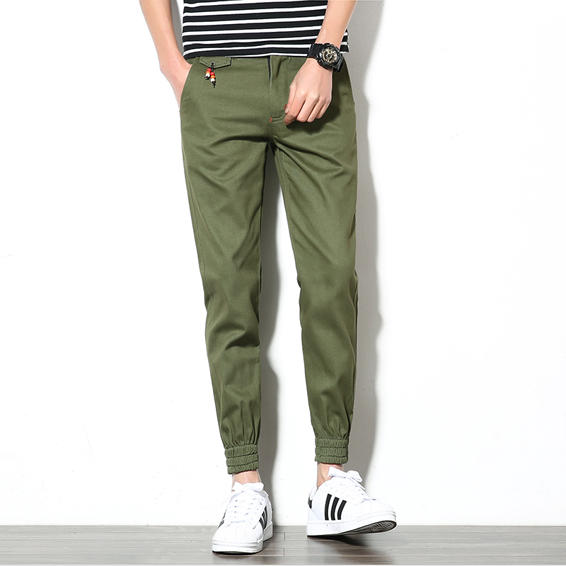 2017 New Mens Casual Pants Slim Fit Mens Jogges Pants Active Solid Khaki Trousers Male Korean Style Hip Hop Harem Pant Men 3XL ...