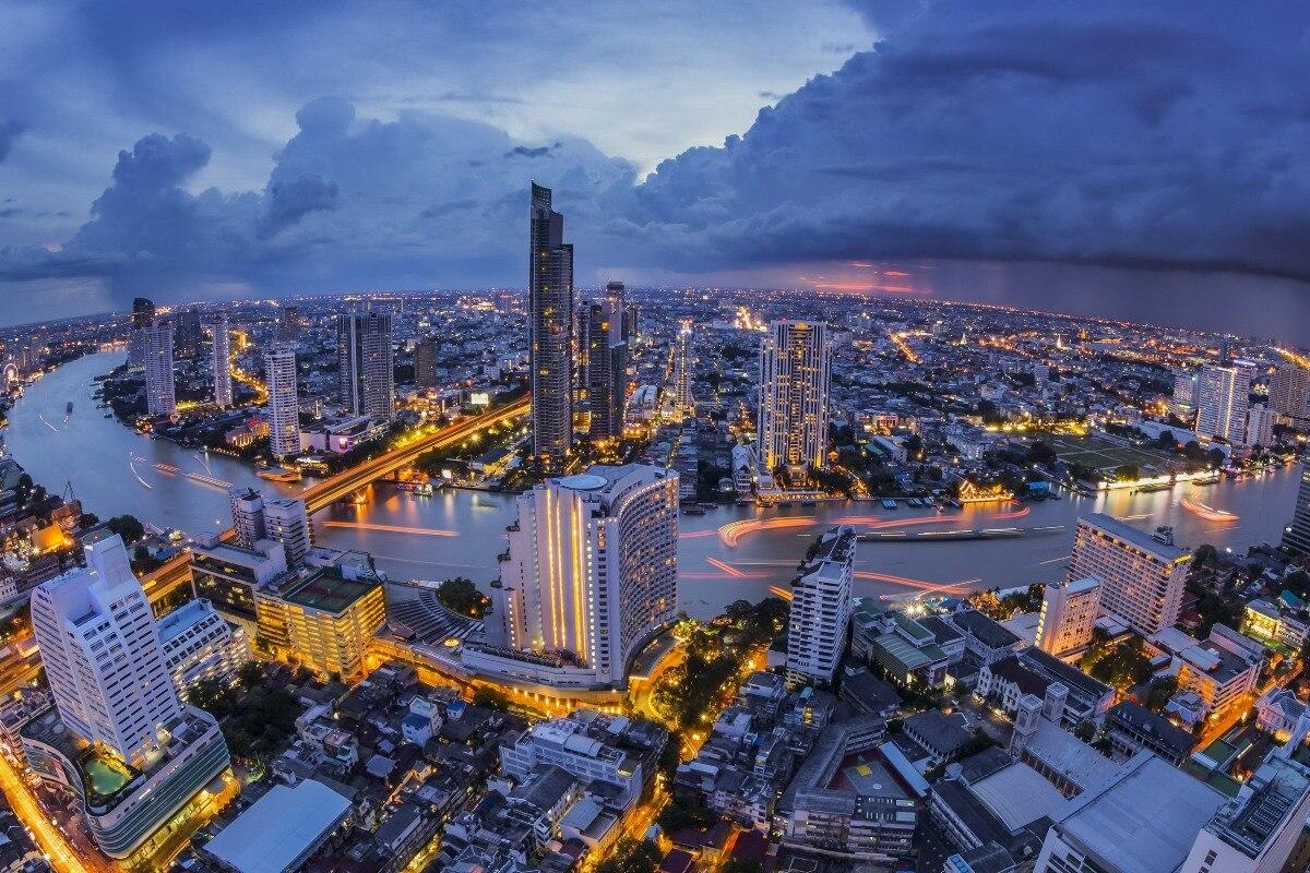 Bangkok thailand landschaften wandkunst leinwand stoff poster drucken für dekor raumdekoration rahmen verfügbar