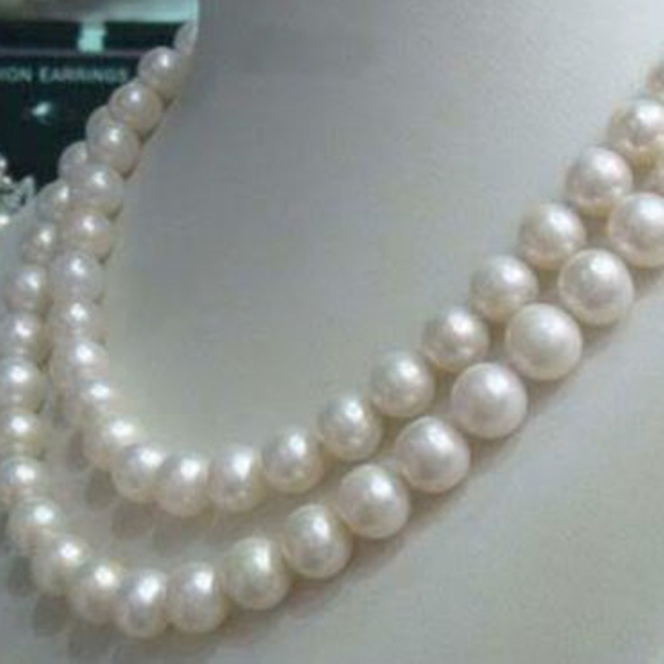 Free shipping 8-9mm natural freshwater white cultured round beads pearl necklace for women high grade jewelry 50inch BV402 цена и фото