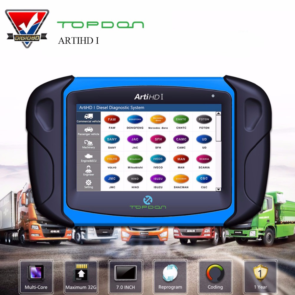 Topdon ArtiHD I Automotive Diagnostic Scan Tool for Heavy Duty and Commercial Vehicles with ECU Reprogram/Calibration Pakistan