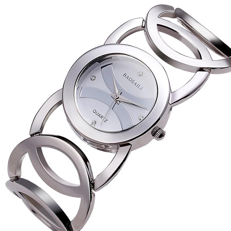 Damesmode casual elegante stalen band horloge waterdicht quartz - Dameshorloges - Foto 2