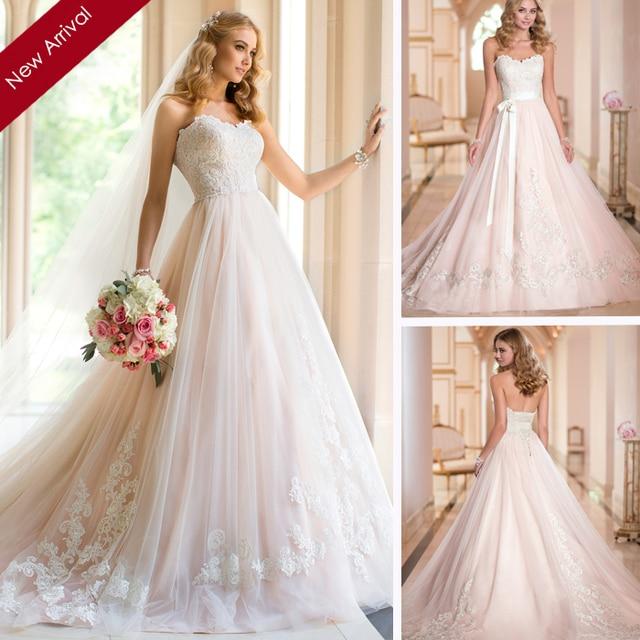 Aliexpress.com : Buy 2015 Vestido Novia Light Pink Sweetheart Ball ...