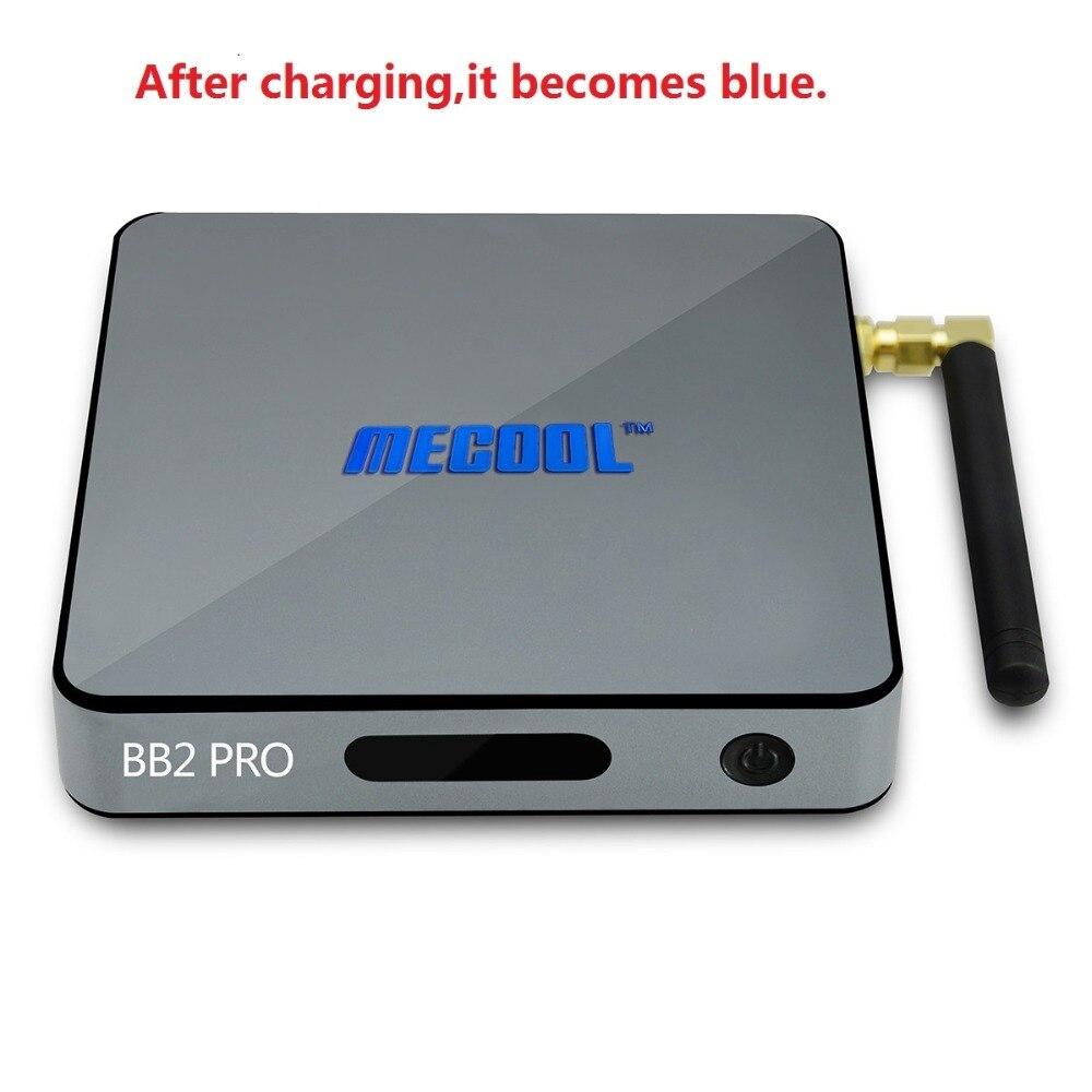 Mecool bb2 Pro Умные телевизоры Box Android ТВ Box Amlogic S912 64 бит 3 ГБ 16 ГБ 4 К Wi-Fi BT4.0 2.4 г/5.8 Г Wi-Fi Телевизионные приставки